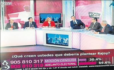 Tertulia nocturna de la cadena Intereconomía.