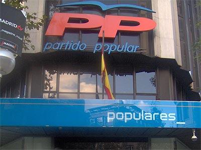 Sede central del Partido Popular en la calle Génova de Madrid.