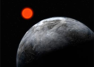 Gliese 581 C, cinc vegades més gran que la Terra. - ESO