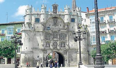 El Arco de Santa María de Burgos, por donde entró a la ciudad Carlos V el 13 de octubre de 1556.