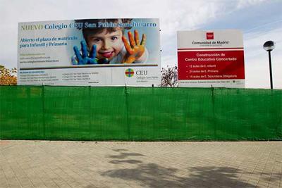 En Sanchinarro, un barrio nuevo de Madrid, Aguirre ha creado un colegio público y cuatro concertados. - Á. Navarrete