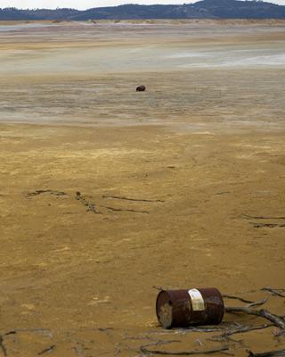Parte de la balsa minera de Riotinto. - Laura León