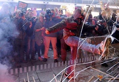 Protestas de los universitarios británicos. AFP