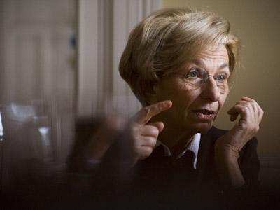 Emma Bonino, que ocupa la Vicepresidencia del Senado italiano desde 2008, el pasado sábado en Madrid.reyes sedano