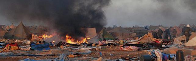 El ataque contra el campamento provocó disturbios el pasado 8 de noviembre en El Aaiún.