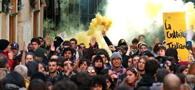 Italia protestas estudiantes Reuters