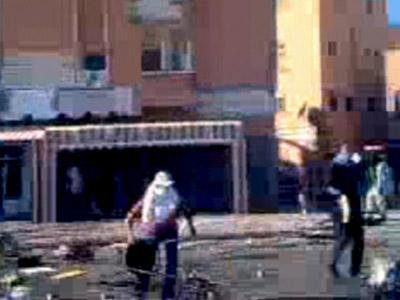 Imagen de las protestas en El Aaiún.