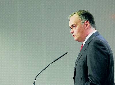El vicesecretario de comunicación del PP, Esteban González Pons, ayer en Valencia.