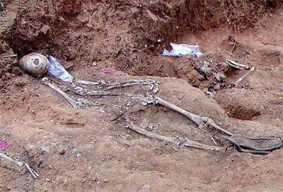 Restos encontrados en Cazalla de la Sierra. - EFE