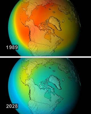 Radiaciones solares en una comparativa simulada de 39 años. /