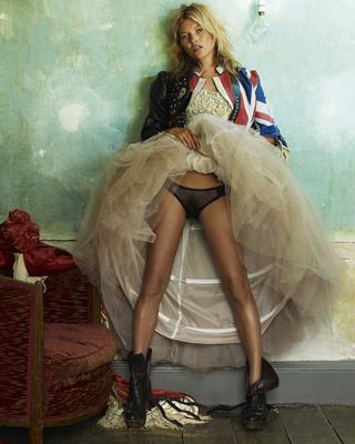 Kate Moss es para Testino una persona con 'una energía increíble'. British Vogue 2008
