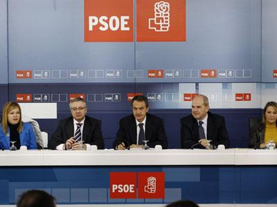 Un momento de una de las reuniones de la ejecutiva federal del PSOE, presidida por el secretario general, José Luis Rodríguez Zapatero.inma mesa