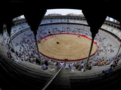 La Monumental de Barcelona el 1 de agosto, el fin de semana posterior a la aprobación de la prohibición de las corridas en Catalunya, que entrará en vigor en enero.AfP