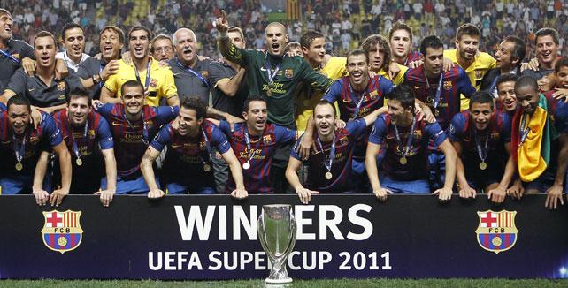 Fútbol Supercopa Europa: El Barcelona, campeón al ganar por 2-0 al Oporto en Mónaco