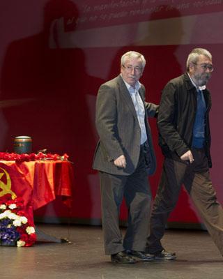 Ignacio Fernández Toxo y Cándido Méndez en el homenaje a Santiago Carrillo