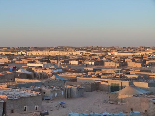 Vista general del 'campamento 27 de febrero'
