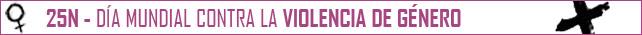 25N - Contra la violencia de género