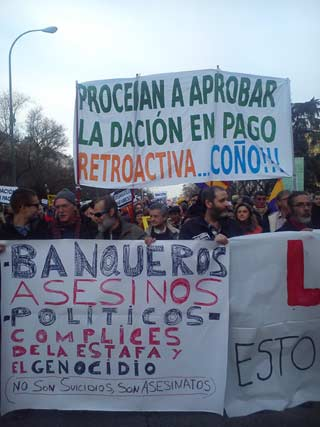 marcha de la PAH en Madrid