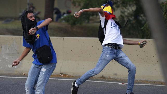 La violenta oposición venezolana