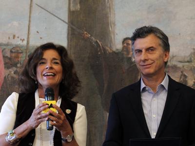 Ana Botella junto al alcalde de Buenos Aires