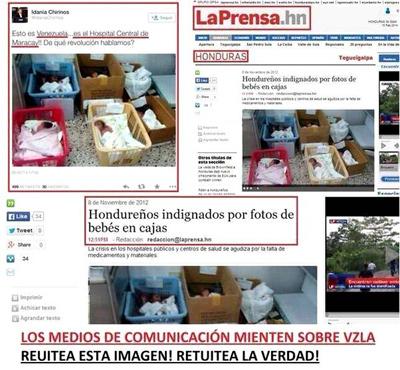 Venezuela tweet falso Honduras