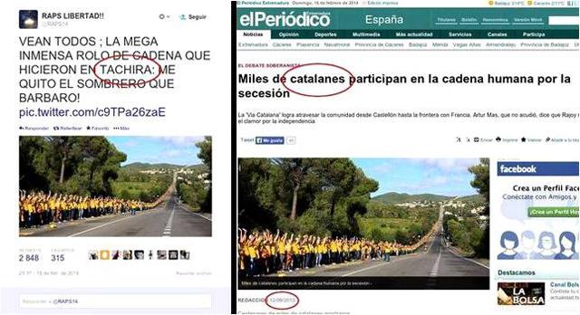 Venezuela tweet falso Catalunya