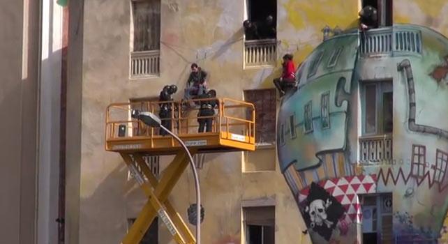 Los mossos desalojaron en febrero el centro okupa de La Carboneira, en Barcelona.