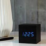 """Reloj Despertador """"Cube Click Clock"""" Negro"""